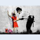 Canvas print - Banksy Streetart - Policemen - Photo on...