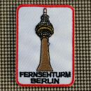 Aufnäher - Fernsehturm Berlin - 7 cm weiß - Patch