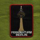 Aufnäher - Fernsehturm Berlin - 7 cm schwarz - Patch