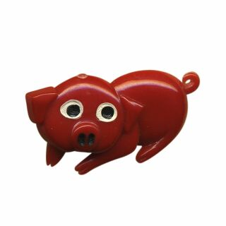 Pin - little pig - red - Badge