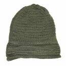 Beanie - 30 cm long - dark green - Knitted Hat - Cotton