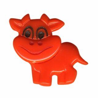 Spilla - piccola mucca - arancione - fermaglio GDR