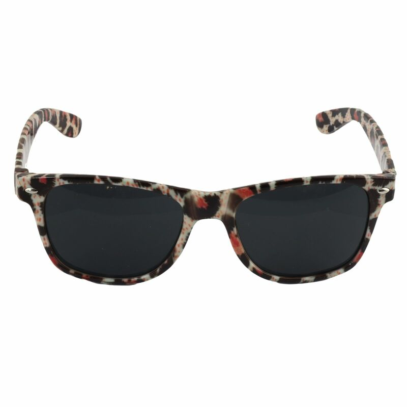 Freak Scene Sonnenbrille - L - Leopardmuster orange-schwarz 02
