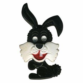 Spilla - coniglietto - nero - fermaglio DDR
