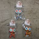 Doll with button-eyes - Cheeky Cat - Set of 3 - 01 -...