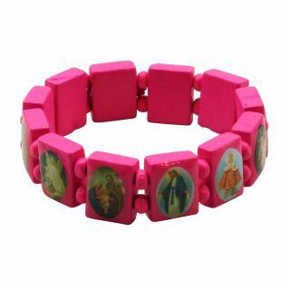 Holzarmband - Christliche Religion - pink